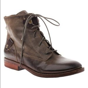 OTBT Olive Taos Leather Ankle Boot